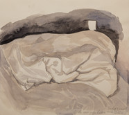 My pillow after sleeping  Watercolor on sketchbookpaper
