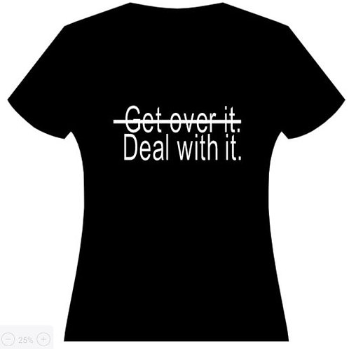 Deal with it. Men's T-Shirt