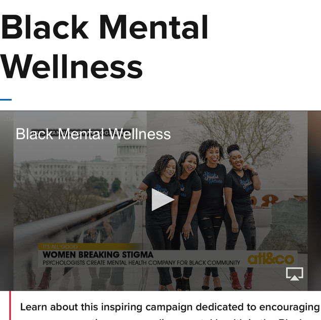 Black Mental Wellness