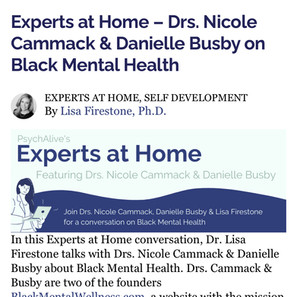 Experts at Home-Drs. Nicole Cammack & Danielle Busby on Black Mental Health