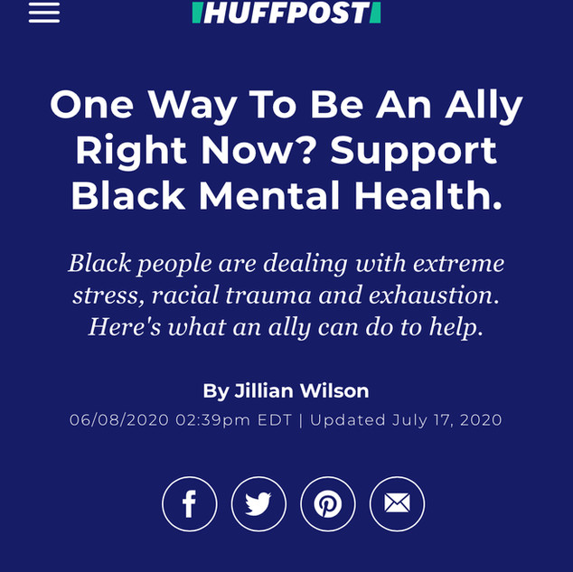 One Way To Be an Ally Right Now? Support Black Mental Health