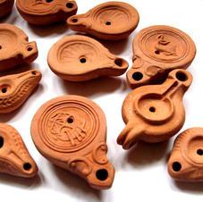 Roman oil lamps