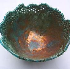 Raku wave bowl
