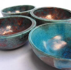 Semi-spherical raku bowls