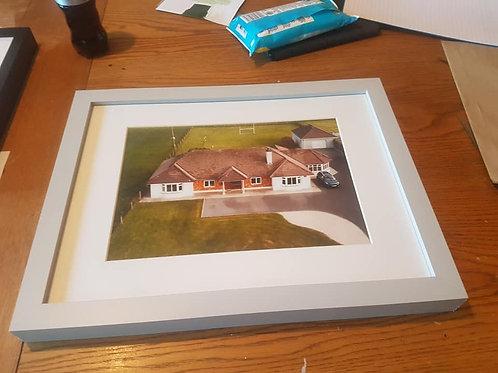 Aerial Home Image & Frame