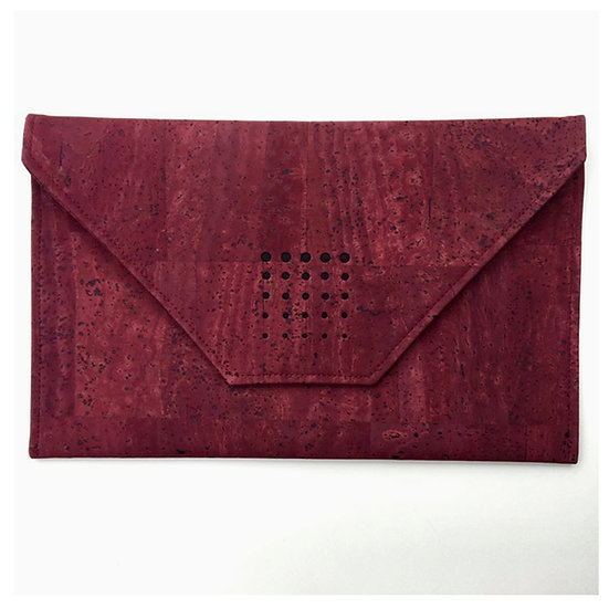 'Ashley' Envelope Cork Clutch (wine)