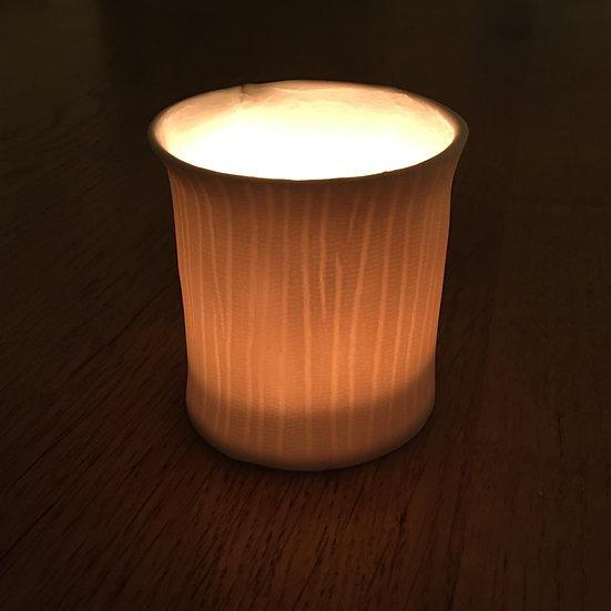 Handmade Bark Porcelain Tealight