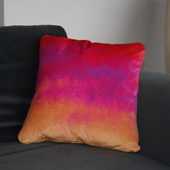 Red, Purple, Gold Velvet Cushion