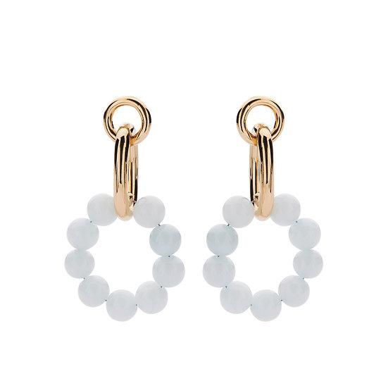 SDP - EA10 06 - Evi light blue loops earrings