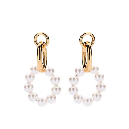 SDP - EA06 - Evi pearl loops earrings