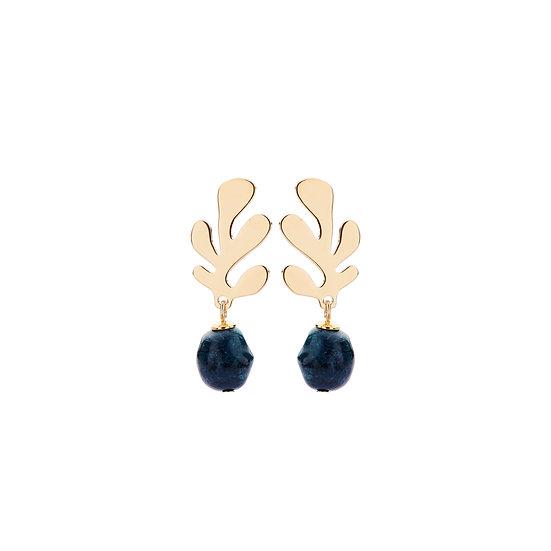 SDP - EA14 - coral mini greygreen  earrings