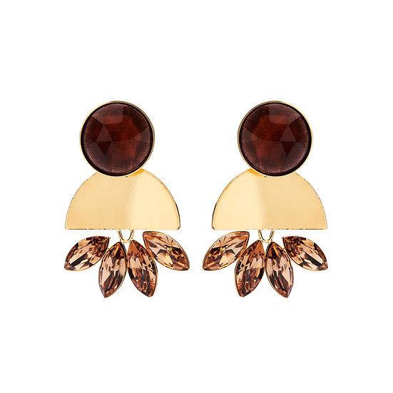 SDP - EA18 - Victoria rust earrings