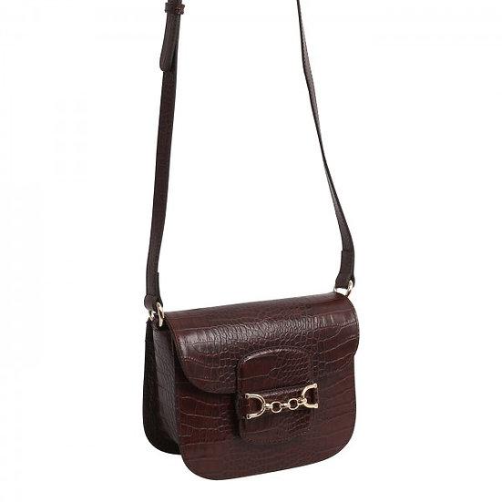 Abro - Cross body bag DIANA small croco brown