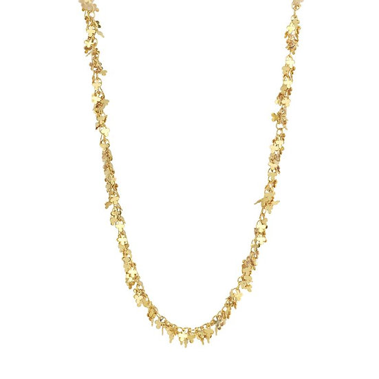 SDP - CHAH11 -LUCKY FOUR - LEAF CLOVER FINE CHAIN GOLD NECKLACE
