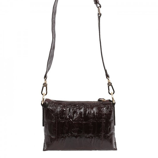 Abro - Cross body bag JULIE  d.brown