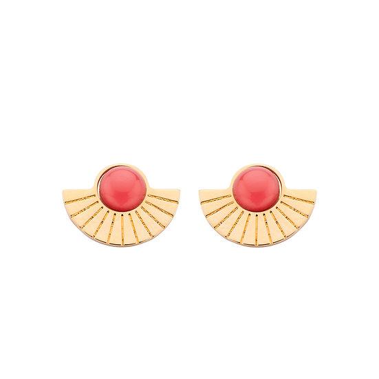 SDP - EA33 - Emy studs coral earrings