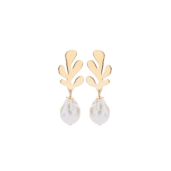 SDP - EA11 - coral mini pearl earrings