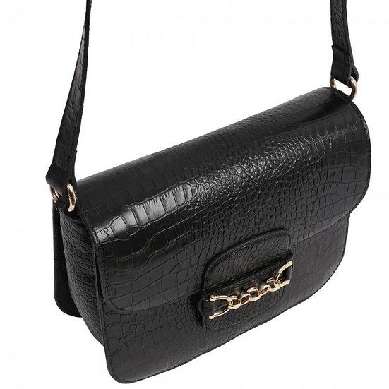 Abro - Cross body bag Diana big croco black