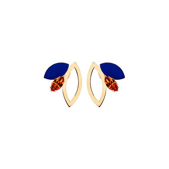 SDP - EA38 - Eva shortie blue mix earrings