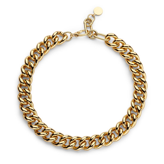 SDP - CHAH7 - gourmet small chain gold necklace