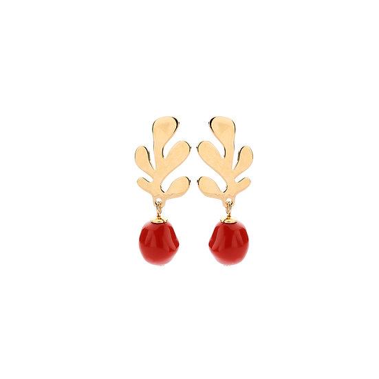 SDP - EA12 coral mini rust  earrings