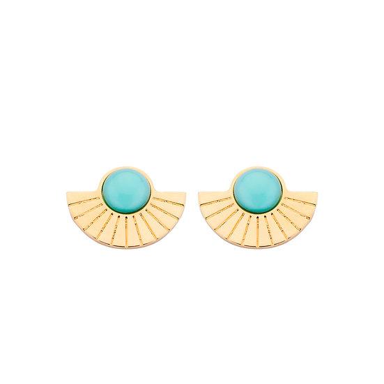 SDP - EA36 - Emy studs turquoise earrings