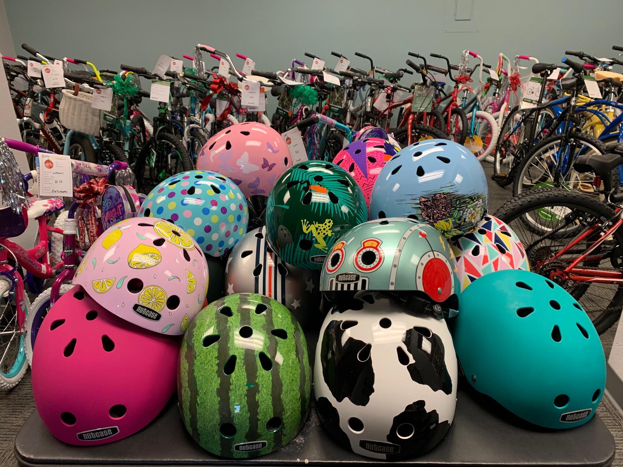 Donate a new bike or a new helmet