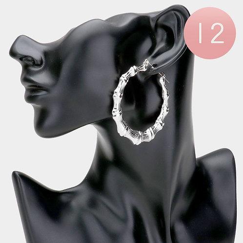 14K Medium Bamboo Earrings
