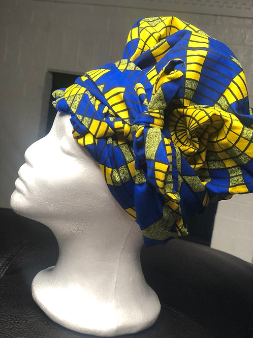 Blue and Yellow Headwrap