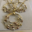 Thumbnail: Gold Plated Earring and Necklace w/ Silver, Rose Gold, and Gold Gems