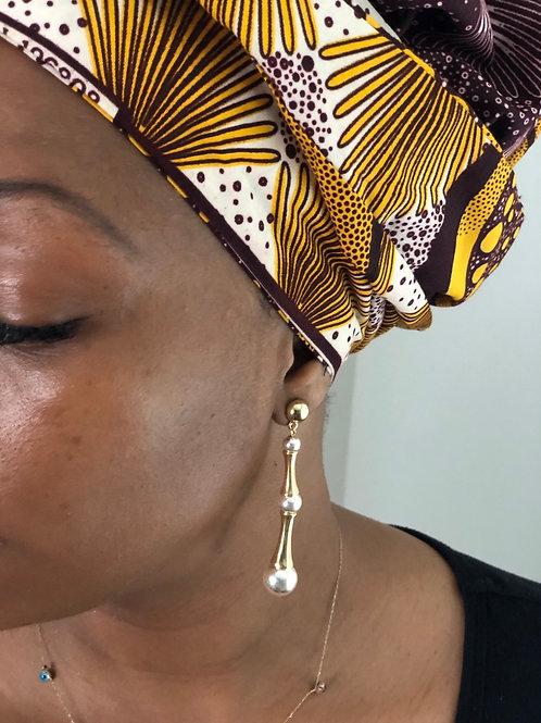 Gold Plated Bone Earrings