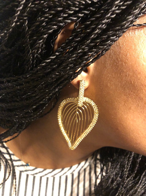 Ace of Spade Gold Plated Earrings