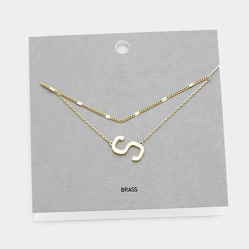14K Gold S Choker Necklace