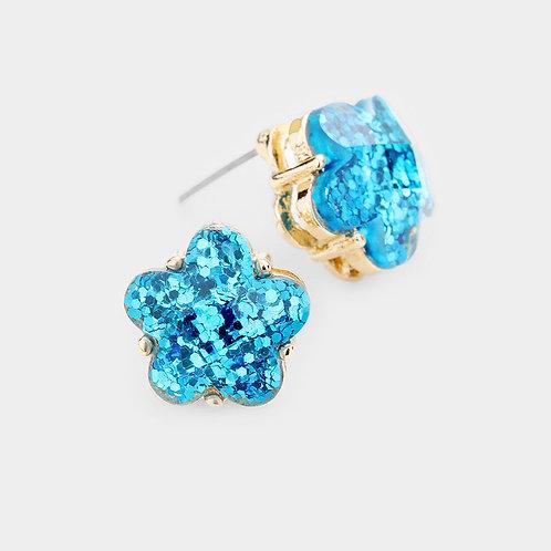 Star Colored Bling Earrings