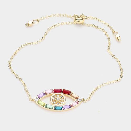 14K Gold Evil Eye Bracelet