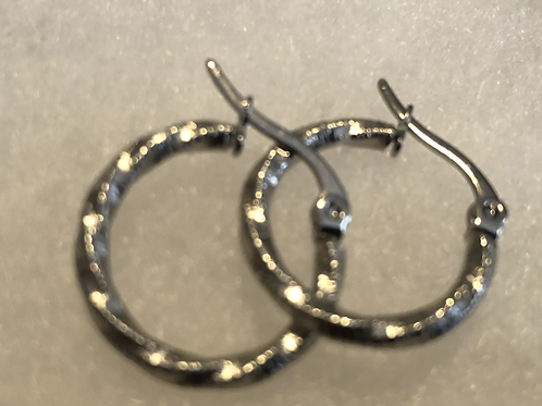 Sterling Silver Rope Hoops