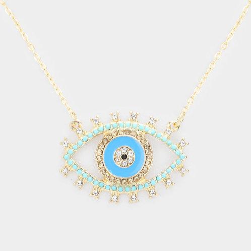 Evil Eye 14K Gold Necklace