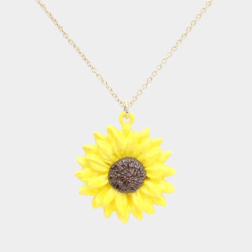 Sun Flower w/Matching Necklace