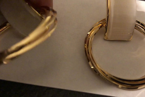 Gold Plated Hoopy Hoops