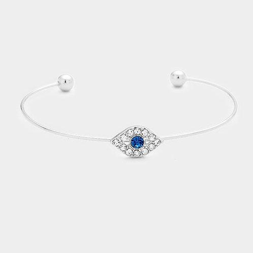 Stone Evil Eye Cuff Bracelet