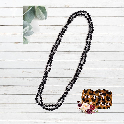 "Black 60"" Necklace"