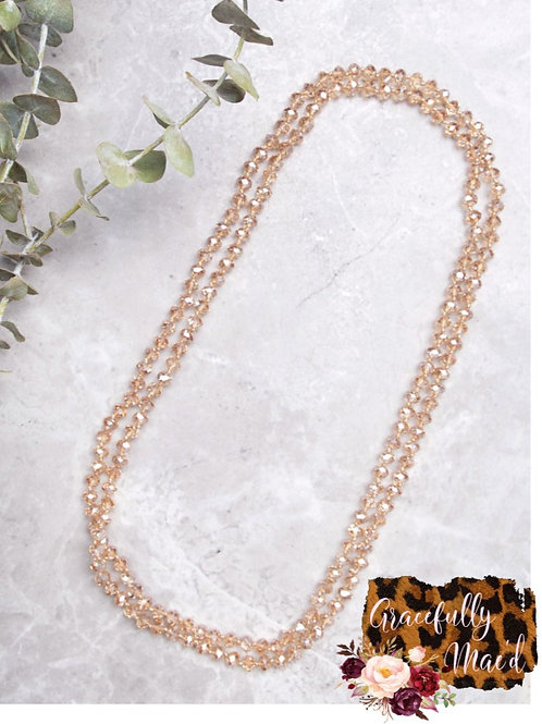 "Beige 60"" Necklace"