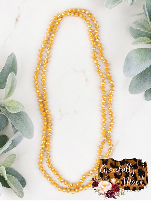 "Mustard 60"" Necklace"
