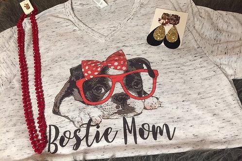 Bostie Mom V-Neck