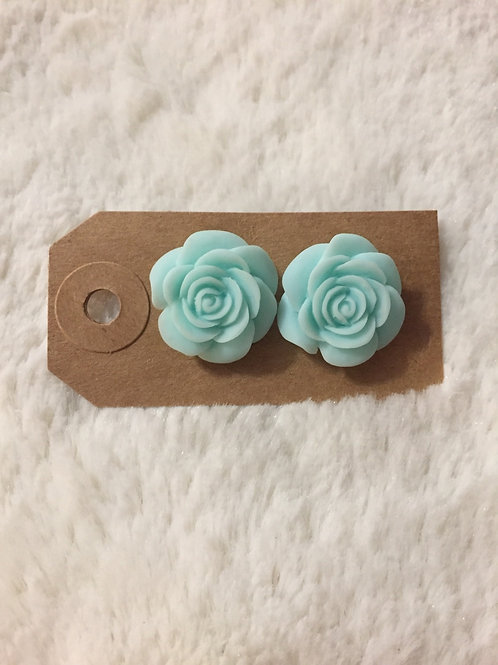Large Tiffany Rose Earrings