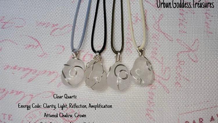 Clear Quartz Cotton Wax Chain