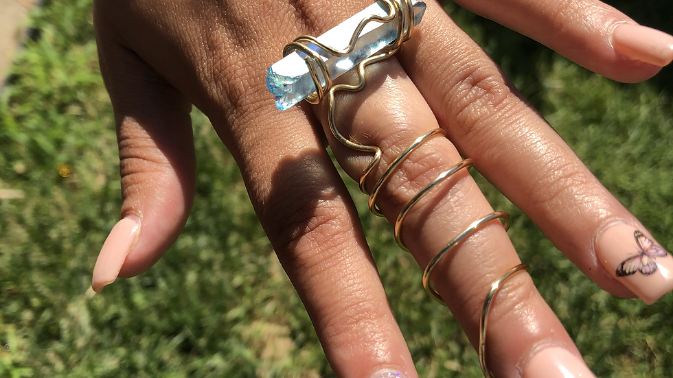 Crystal Quartz Wire Wrapped Ring
