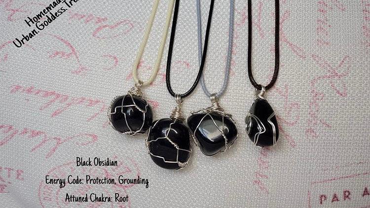 Black Obsidian Cotton Wax Chain