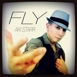 "Aki Starr ""Fly"" single cover"