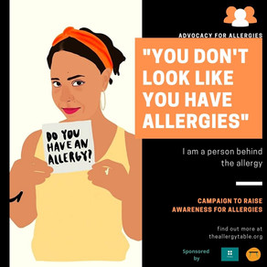 I am a person behind the allergy campaign